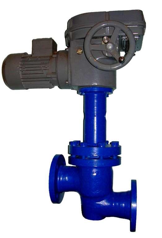 Клапан запорный сильфонный, под электропривод